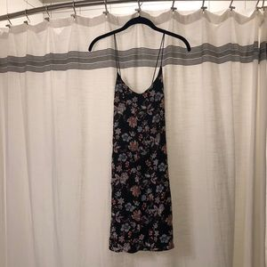Nordstrom LUSH black floral dress
